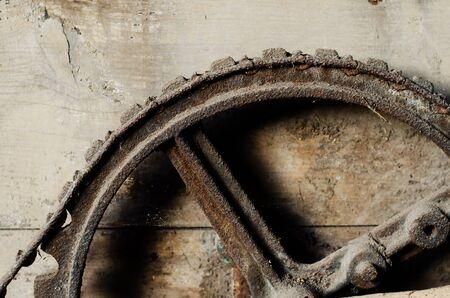 rusty: rusty wheel