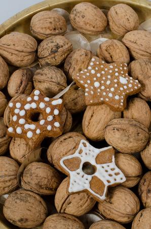 gingerbread cookies: walnuts and gingerbread cookies