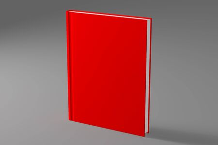 book or notebook template on clean gray background. 3d illustrated Stock Photo