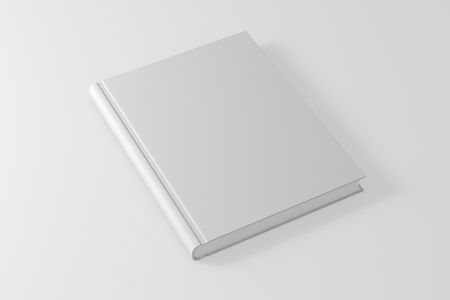 book or notebook template on clean white background. 3d illustrated Stock Photo