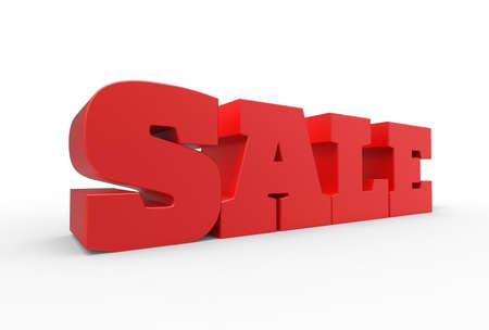 大きな赤い 3 d 販売ホワイト バック グラウンドを分離した言葉。3 d イラスト