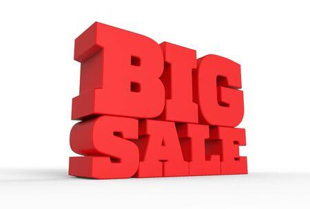 3 d の大きな販売単語ホワイト バック グラウンドを分離します。3 d イラスト