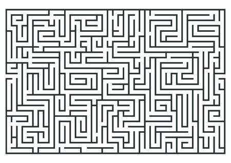 迷路、ラブリンスのイラスト。白い背景に隔離されています。中程度の難易度。