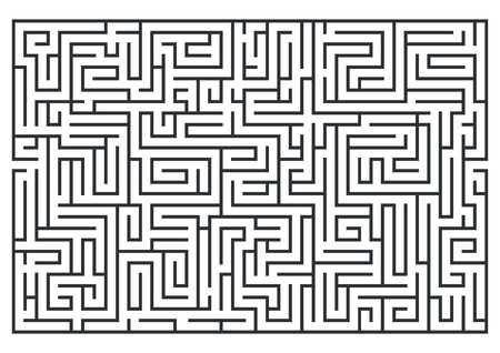 illustratie van doolhof, labrinth. Geïsoleerd op witte achtergrond Gemiddelde moeilijkheidsgraad.