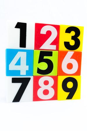 top seven: Number one to nine arrange in stack