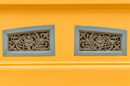 ventilate: Old Thai style air ventilate window in flower shape