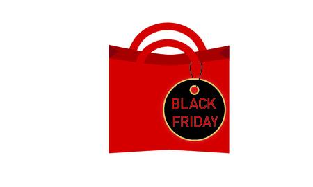 Black Friday consumption on white background, vector illustration. Illustration