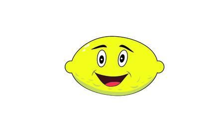 I cartoon lemon fruit Ilustração