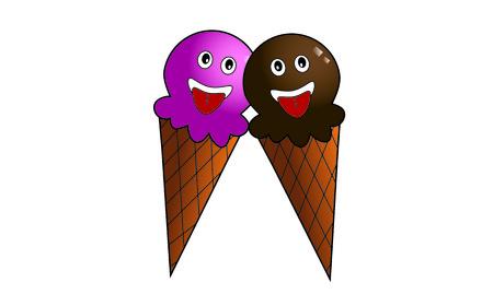 Ice cream cartoon illustrations