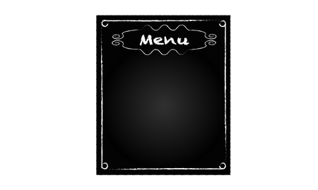 Tło czarna tablica ze słowem menu restauracji