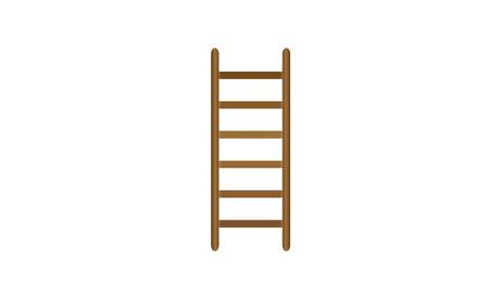 Wooden ladder icon Ilustração
