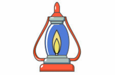 Candle, Lamp, Utensil to light in the dark. Candil, Utensil for lighting that consists of a container full of oil, a wick submerged in it, that appears by a pickaxe, and a hook to hang it.