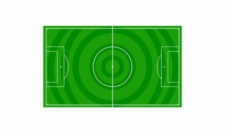 Football field. Green field for football Çizim