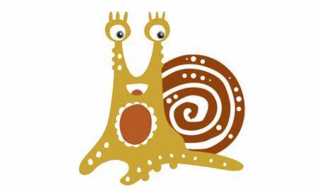 Friendly snail, colorful funny mollusk drawing Illusztráció