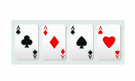Playing poker cards. Aces of poker.