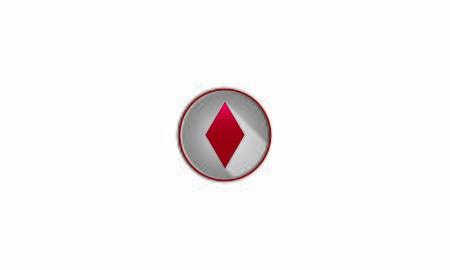 Icon diamond poker card Ilustrace