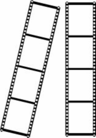 Scribbled film strip. Negative movie or photo. Illustration