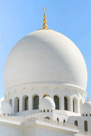 close-up of white mosque detail in Abu Dhabi Stock Photo - 4786053