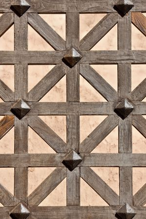 close-up of an old brown wooden gate Stock Photo - 5798587