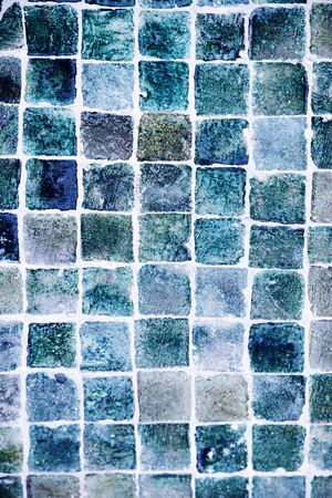 Moroccan tiles in blue, marine colours. Abstract texture background.