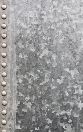 galvanized: Closeup of Galvanized Sheet Metal