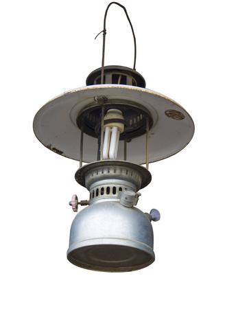 Hurricane Lamp isolated on white background.