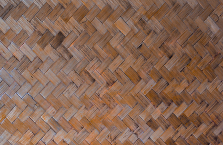Bamboo woven pattern is used to make temporary partitions.