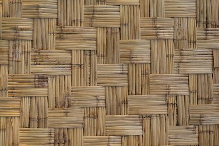 Bambus gewebte Mustertextur für die Verwendung als Hintergrund.