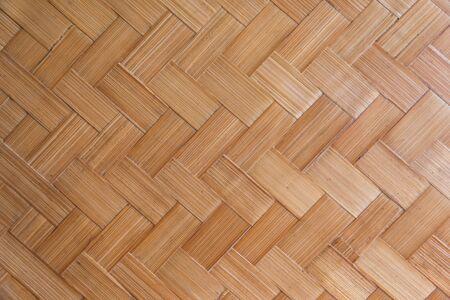 Bambus gewebtes Muster (Handwerksbambus spiegelt Kultur, Kreativität und Weisheit der Menschen wider) Verwendung für Musterhintergrund.