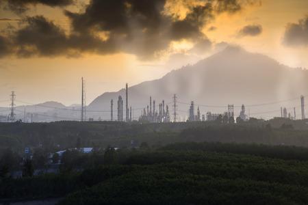 Pollution industry concept. Standard-Bild