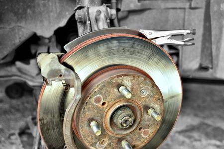car service ,Disk Brake ,During the repair, car brakes.