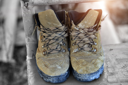Old safety shoes.
