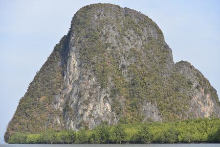 Island near Phuket in Thailand. Famous landmark and famous travel destination  .