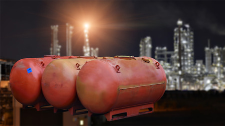 Chemical tank and refinery plant background .