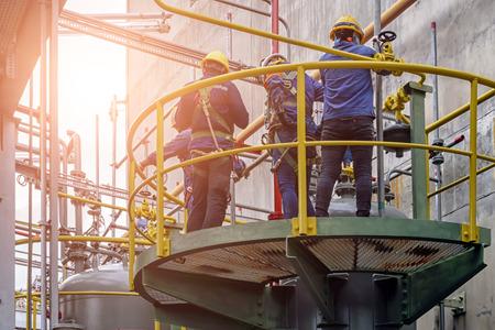 Work safety at construction site . Standard-Bild