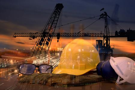 標準工事の安全と建設サイトの背景。