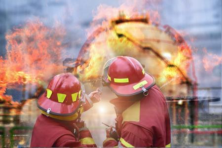 Emergency fire rescue .