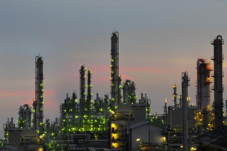 Oil refinery plant .