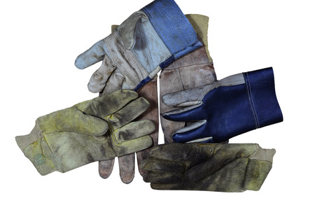 safety gloves on white background.