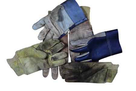safety gloves on white background.