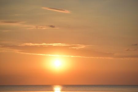 Beach sunset , Beautiful natural summer seascape Thailand . Stock Photo