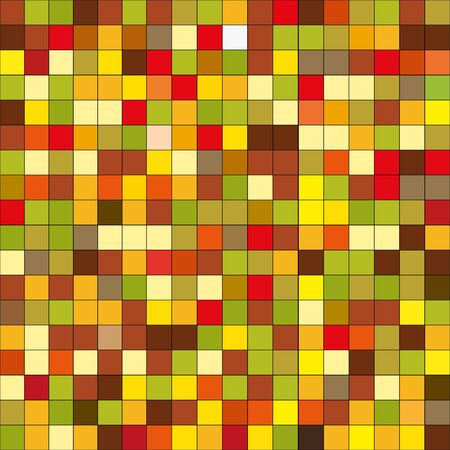 fission: Tile pattern of squares fission red and yellow