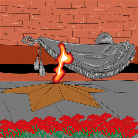 Background picture illustration in memory of your soldiers on the day of victory on May 9