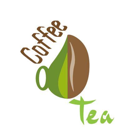 Coffee logo and tea