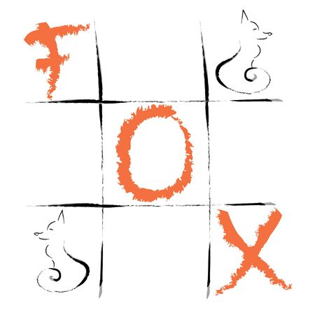 Logo with text fox
