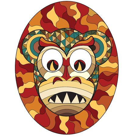 Mask of evil illustration.