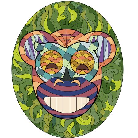 pacification: Happy monkey mask in ethnic style