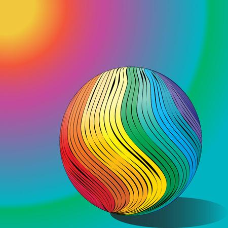 抽象的な図面レインボーバルーン