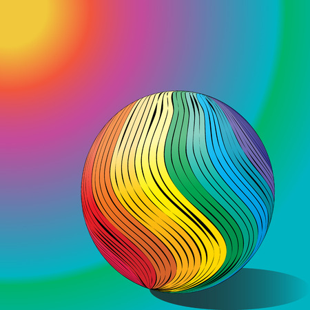 Abstract drawing rainbow balloon