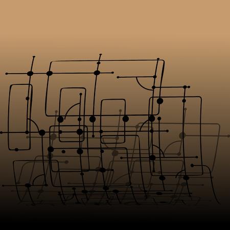 Gloomy apocalyptic abstract drawing Çizim